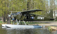 N734Q @ LHD - 1958 DHC2 Beaver of Ptarmagin Air in ARMY livery at Lake Hood
