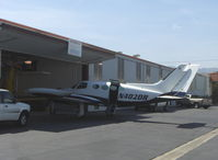 N402DR @ SZP - 1967 Cessna 402, two Continental TSIO-520-VBs 325 Hp each, ex C-FFAP - by Doug Robertson