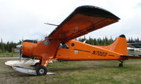 N7023 @ AK28 - Smart looking 1951 DHC2 Beaver at Chena Marina in Fairbanks