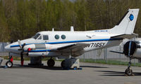 N7165Y @ ANC - Beech 65-A90-1 of Arctic Circle Air at Anchorage South Ramp