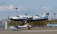N715TL @ MRI - Pilatus doing touch and gos at Merrill Field, Anchorage