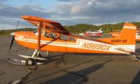 N9890X @ TKA - Colourful Hudson Air Cessna 185 at Talkeetna