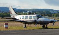 N9680T @ FAI - Warbelow Air's Pa31 at Fairbanks East Ramp