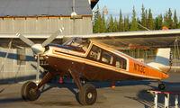 N713C @ FAI - Helio H-295 of Wright Air services on Fairbanks East ramp