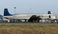 N351CE @ ANC - Everts DC6 on their Anchorage ramp