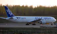 JA8286 @ ANC - ANA Cargo B767 makes a late evening call to Anchorage Freight ramp