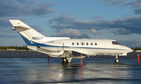 N55RF @ FAI - Hawker sits in the early evening sun on thw Fairbanks West ramp