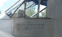 N7379C - Close -up of details of previous military identity