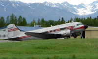 N50CM @ PAQ - This DC3 sat at Palmer Municipal - there seems to be some doubt as to its history - see http://www.ruudleeuw.com/dc3_p1.htm - half way down the article