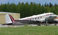 N59314 @ PAQ - DC3 sits in storage at Palmer Municipal - excellent potted history for this aircraft at    http://www.ruudleeuw.com/n59314.htm