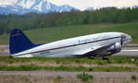 N7848B @ ANC - 66 years old - and still flying  , Everts C-46 awaits clearance to take off from Anchorage Int