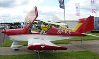 SP-ICE @ EGTB - Aircraft on static display at AeroExpo 2008 at Wycombe Air Park , Booker , United Kingdom