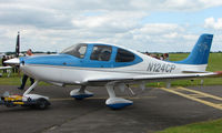 N124CP @ EGTB - Visitor  during  AeroExpo 2008 at Wycombe Air Park , Booker , United Kingdom