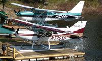 N1046V @ AK19 - Cessna Stationair at Fish Lake , Talkeetna AK - by Terry Fletcher