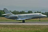 VP-BRA @ LFSB - Falcon 2000EX departing on rwy 16 - by runway16