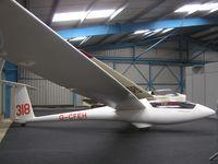 G-CFEH @ EGTB - Centrair Pegase in hangar at Booker - by Simon Palmer