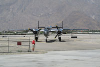 N25GL @ PSP - Arriving at Palm Springs Air MuseumPS - by Jeff Sexton