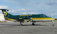 N404GV @ FAI - Frontier Flying Service Beech 1900 at Fairbanks West ramp