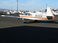 N1351W - 1963 Mooney M20C taxying in late afternoon sunshine @ Palo Alto, CA - by Steve Nation