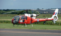 G-CBSK @ EGBW - This Westland Gazelle wears its old military marks of ZB627 on a sunny Sunday afternoon at Wellesbourne