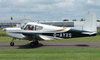 G-AYXS @ EGBW - Siai Marchetti S205 on a sunny Sunday afternoon at Wellesbourne