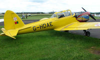 G-HDAE @ EGBW - Brightly coloured DHC1 Chipmunk on a sunny Sunday afternoon at Wellesbourne