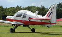 G-BZDP @ EGBD - This Scottish Aviation Bulldog still wears its former military serial XX551 at Derby Eggington