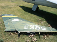 60-5385 @ FTW - Veteran's Memorial Air Park - at Mecham Field - F-105 Tail awiting re-assembly