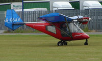 G-CSAV @ EGNW - Thruster 600N at Wickenby Wings and Wheels 2008