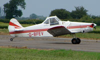 G-BFEV @ EGCS - Piper Pawnee about to depart from Sturgate - by Terry Fletcher