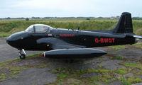 G-BWGT @ EGCF - Civil registered Jet Provost ex XR679 at Sandtoft