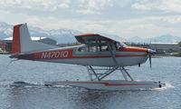 N4701Q @ LHD - Cessna 185E on Lake Hood