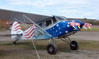 N7763K @ LHD - 1951 Piper Pa-20 at Lake Hood in patriotic colours