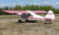 N1428H @ 95Z - 1950 Aeronca 15AC at Bradley Skyranch , North Pole , AK