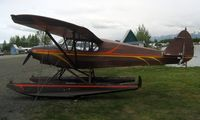 N5102H @ LHD - 1948 Piper Pa-14 at Lake Hood with candidate for smallest tail number marking