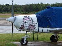 G-EXXO @ EGLK - Nose art of Piper Pa-28-161
