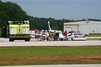 N2965R @ LAL - Piper comes in nose gear collapsed - pilot and passenger were unharmed