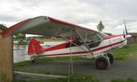 N3891Z @ LHD - Piper Pa-18-150  at Lake Hood AK - note the carrying case for the sporting gun