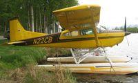 N22CB @ LHD - Cessna A185F at Lake Hood