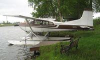 N9676H @ LHD - Cessna A185F at Lake Hood