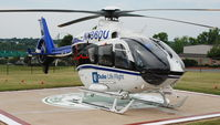 N136DU @ DAN - 2007 Eurocopter EC 135 T2+ at the Danville Life Saving Crew Helipad in Danville Va. from Duke University . - by Richard T Davis