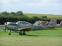 D-EGEC - Piaggio P149 at Meppershall airstrip - by Simon Palmer