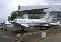 N41AK @ EGTC - King Air at Cranfield - by Simon Palmer