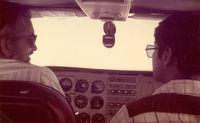 N7541V @ FTW - John Van Dyke (L) in route to McAllen, TX