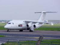 D-AWUE @ EGNR - British Aerospace BAe-146-200, (cn E2050) WDL Aviation - by chrishall