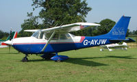G-AYJW - Cessna FR172G - a visitor to Baxterley Wings and Wheels 2008 , a grass strip in rural Warwickshire in the UK