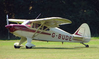 G-BUDE - Piper Pa-22 - a visitor to Baxterley Wings and Wheels 2008 , a grass strip in rural Warwickshire in the UK