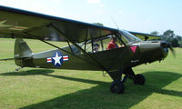 N7238X - 1953 Piper L-18C - a visitor to Baxterley Wings and Wheels 2008 , a grass strip in rural Warwickshire in the UK