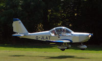 G-JLAT - EV-97 Eurostar - a visitor to Baxterley Wings and Wheels 2008 , a grass strip in rural Warwickshire in the UK - by Terry Fletcher