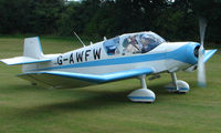 G-AWFW - Jodel D117 - a visitor to Baxterley Wings and Wheels 2008 , a grass strip in rural Warwickshire in the UK